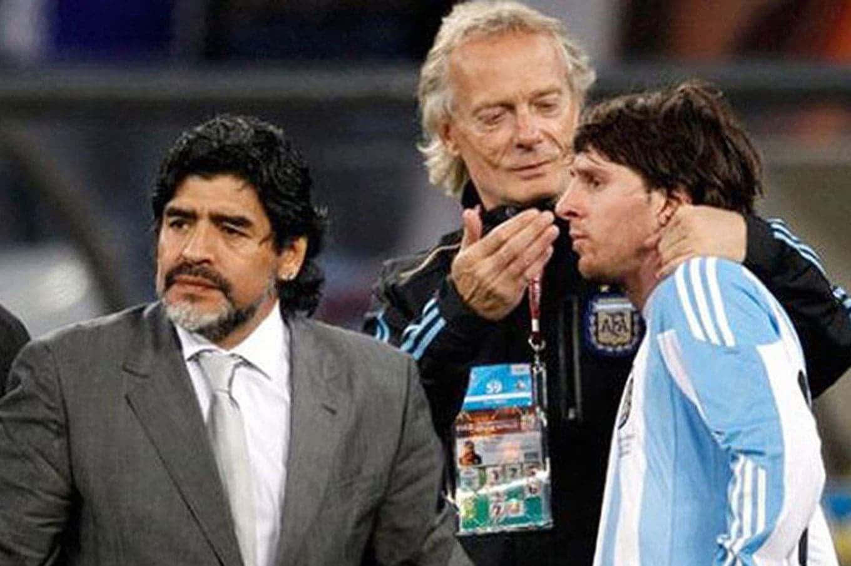 Signorini with Maradona and Mesi