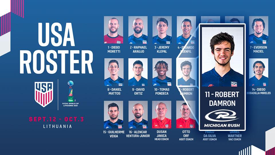 Robert Damron to represent U.S. in Futsal World Cup