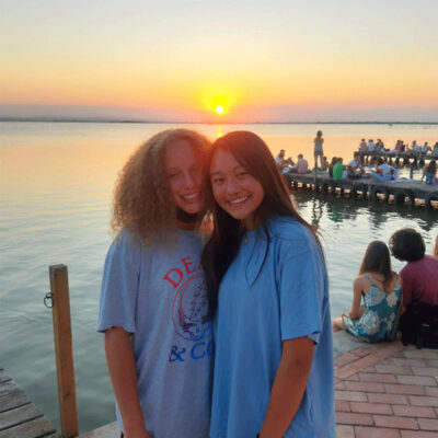Ava and Hope at Sunset
