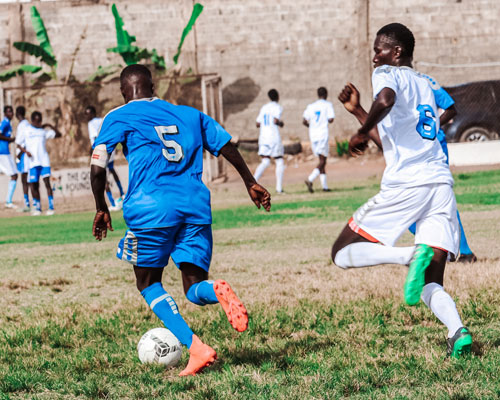 African players playing soccer