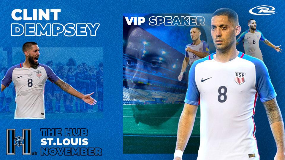 Clint Dempsey, VIP speaker at Rush Select HUB